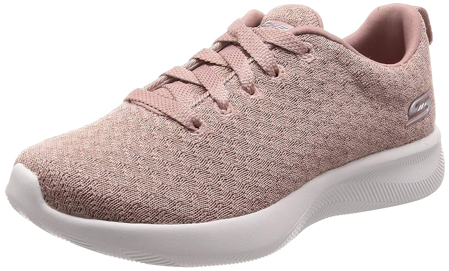 pink gold Skechers Womens Bobs Squad 2 Grand Jubilee Textile Trainers