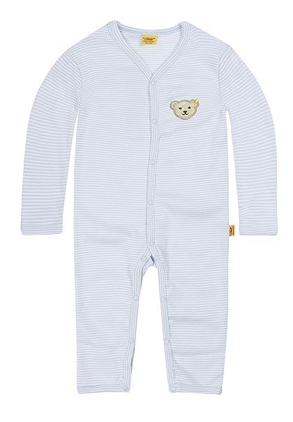 Steiff - Pijama para bebé, Azul Baby Blue, talla alemana: 56 (Herstellergröße