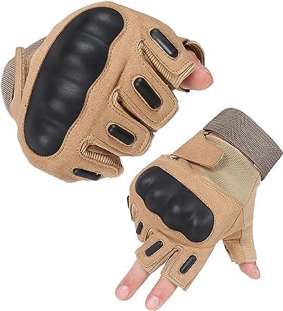 HIKEMAN Gants de Cyclisme de Moto Tactiques avec Protection des articulations rigides,/écran Tactile Complet Airsoft pour lentra/înement descalade,de randonn/ée Paintball et de Travail