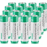 Enegitech AA Lithium Battery 16 Pack, 3000mAh 1.5V Double A Long-lasing Li Ion Battery Non-Rechargeable for Blink Home Security Camera - Flashlight - Solar Lights - Remote Control