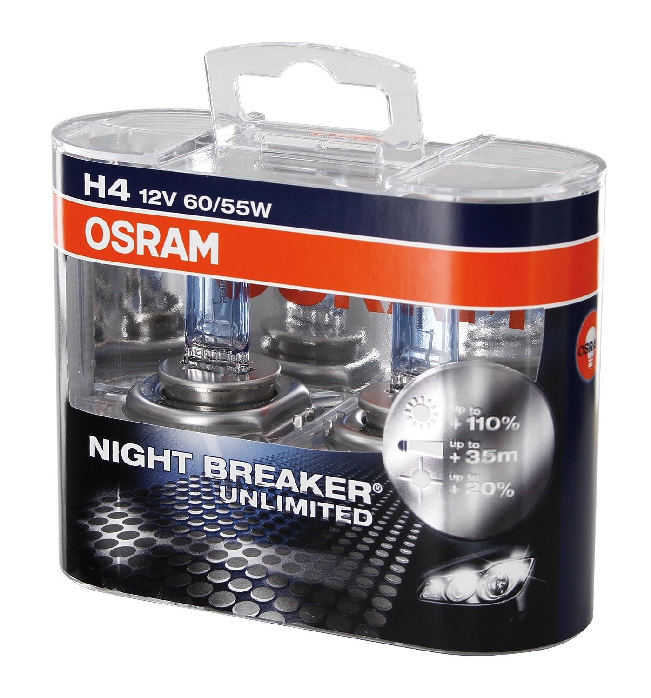 OSRAM Original 12V H4 Lampada alogena per proiettori 64193-01B Blister singolo