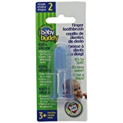 Baby Buddy Finger Toothbrush Stage 2 for Babies/Toddlers, Kids Love Them, Blue