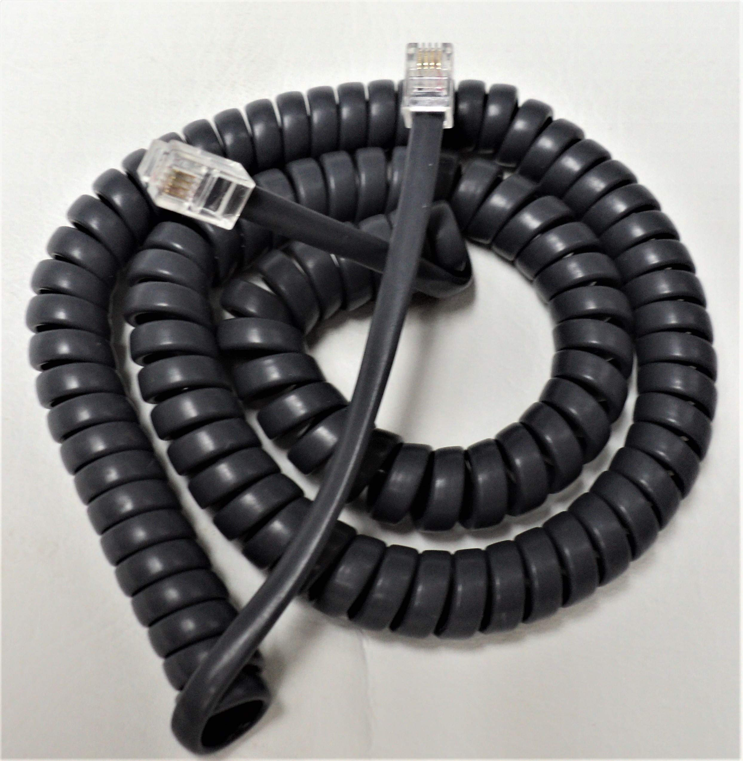 Lot of 50 Gray 12' Ft Handset Cords for Avaya Digital/IP Phone 2400 4600 5400 5600 Series 2410 2420 4610 4620 4620SW 4621 4630SW 5410 5420 5602 5602SW 5610 5610SW 5620 5620SW 5621SW by DIY-BizPhones