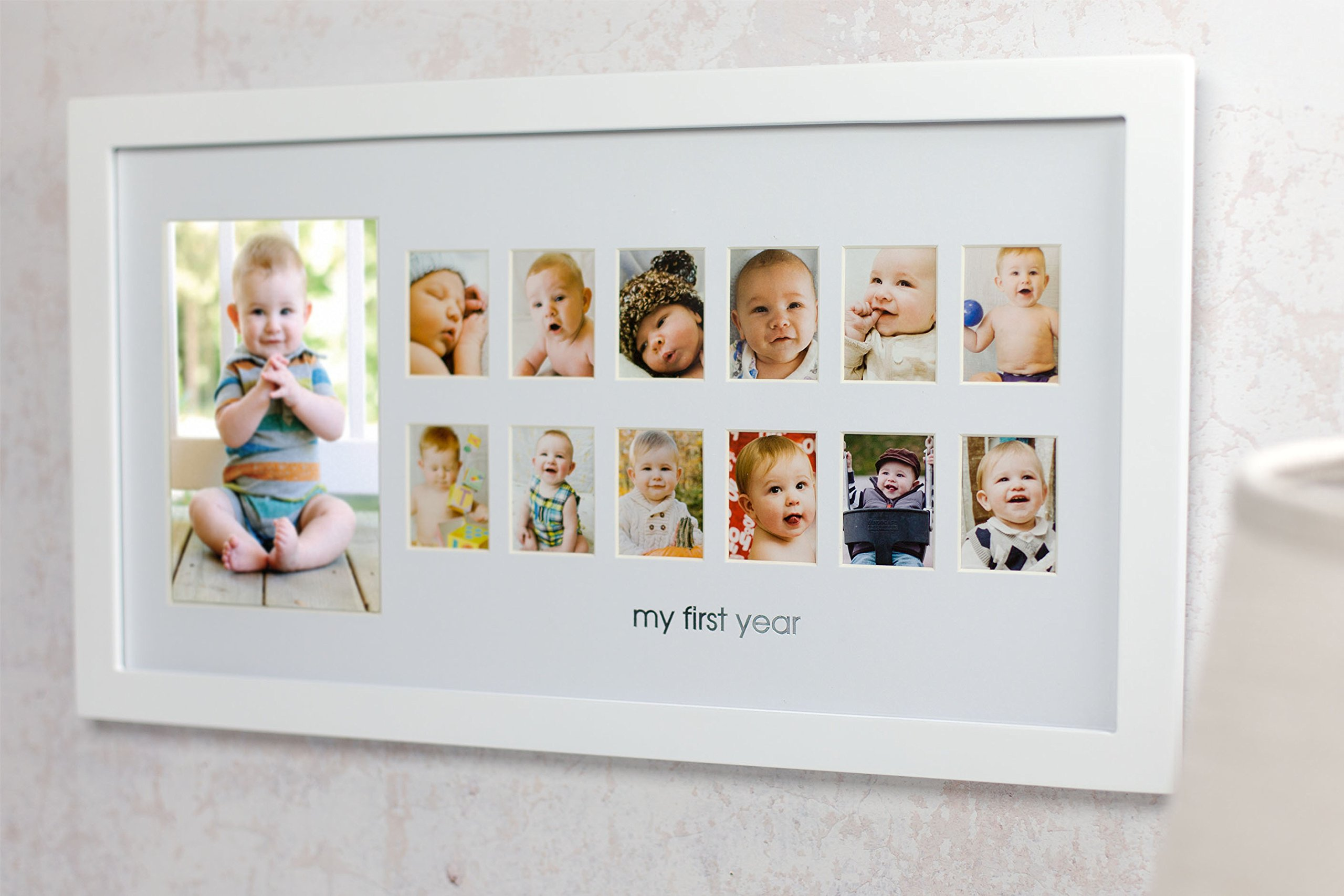 OpenBox Pearhead My First Year Photo Moments Baby Keepsake Frame ...