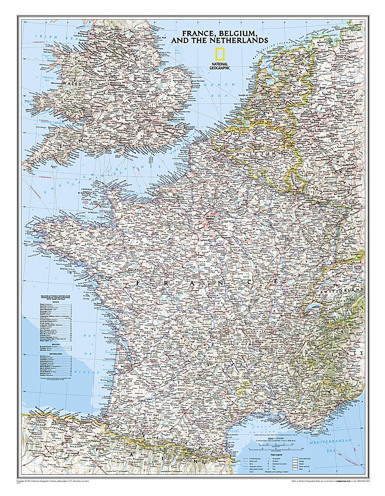 Map Of Northern France Belgium.National Geographic France Belgium And The Netherlands Classic