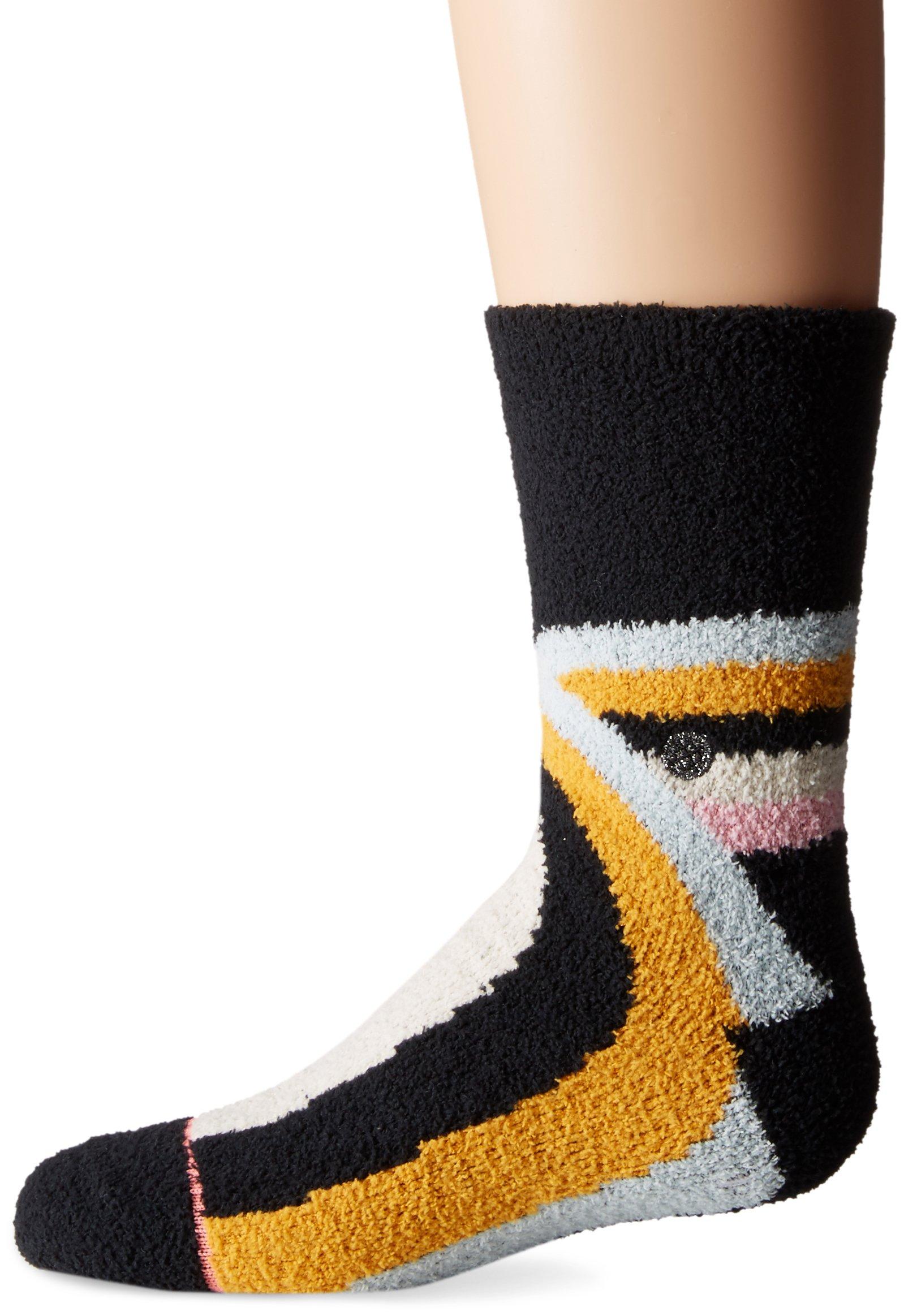 Stance Little Girls' Alana Stripes Reinforced Toe Arch Support Crew Sock, Black, L