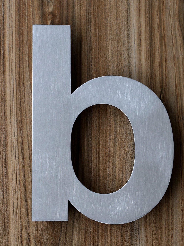 QT N/úmero de Casa Moderna Aspecto Flotante Letra c F/ácil de instalar y fabricado en s/ólido 304 Acero Inoxidable Cepillado GRANDE 20 Cent/ímetro
