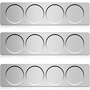 Chengu 3 Pieces Stainless Steel Wall Plate Base Wall Mounted Base for Home Kitchen Spice Jars Supplies