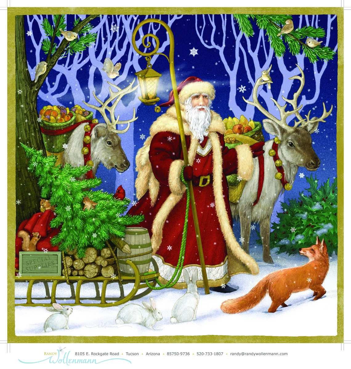 Father Christmas Jumbo Advent Calendar (Countdown to Christmas) Vermont Christmas Company
