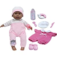 """JC Toys 15"""" Realistic Soft Body African American Baby Doll with Open/Close Eyes Berenguer Boutique   10 Piece Gift Set…"""