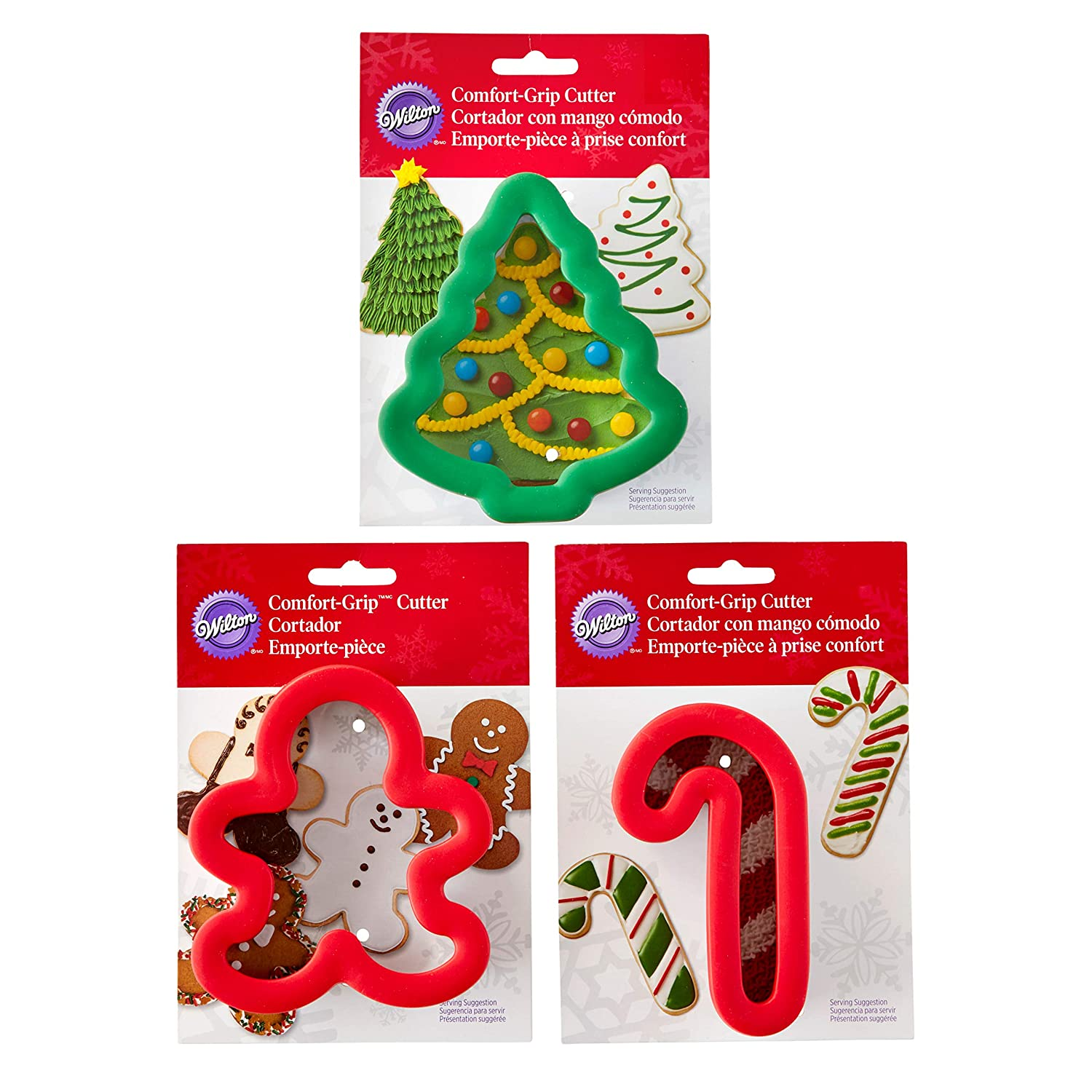Wilton Holiday Comfort Grip Cookie Cutter Set 3 Piece
