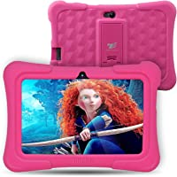 Dragon Touch Y88X Plus Kids Tablet 7 inch Quad Core Android PC Tablet Android 5.1 Lollipop IPS Screen 1G RAM 8G ROM Wifi Bluetooth Camera Games Unlocked Version of Kidoz & Google Play Pre-Installed (With Pink Silicone Adjustable Stand Case)