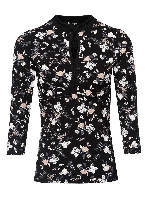 Vive Maria Indochina Shirt Black Allover: : Bekleidung