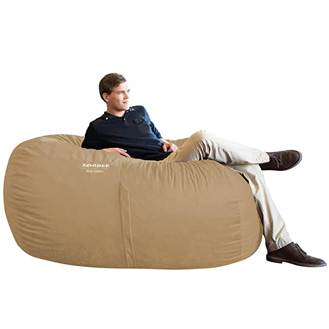 Amazon.com: xorbee 6-Foot foam-filled Bean Bag Lounger en ...