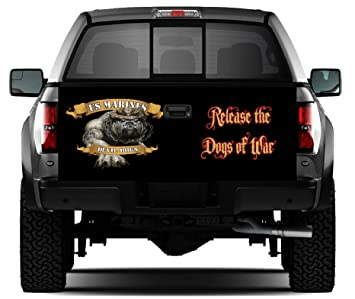Amazon.com: USMC Devil perros # 2 portón trasero Wrap ...