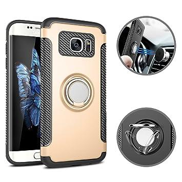 Coque Galaxy S7 Edge Silicone Étui avec Anneau Kickstand, SpiritSun 2 en 1  Hybride Coque 35c2fe204312