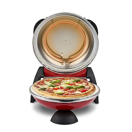 G3Ferrari G10006 Delizia Horno pizza eléctrico Evo, 1200 W, rojo ...
