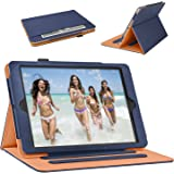 iPad 9.7 inch Case 2018/2017 iPad Leather Case 6th / 5th Generation Corner Protection Stand Folio Cover Case with Pencil Holder and Auto Wake/Sleep for Apple iPad Air 2 / iPad Air, Blue