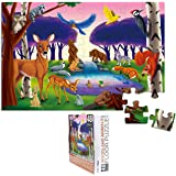 48-Piece Floor Puzzle for Kids - Woodland Animals Jumbo Jigsaw Puzzle, 1.9 x 2.9 Feet