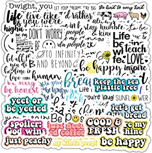 50 PCS Reward Motivational Stickers for Water Bottles, Waterproof Durable Vinyl Encouragement Decal Stickers for Students, Teachers and Company Employees Stickers Pack