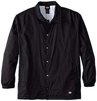 Amazon.com: Dickies Men's Big & Tall Snap Front Nylon Jacket: Clothing