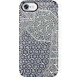 Speck 79990-5757 Presidio Inked Cell Phone Case for iPhone 7 - ShiboriTile Blue Matte/Marine Blue