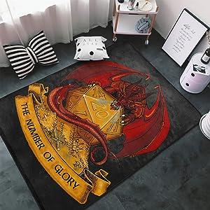 Dungeons Dragons D20 Dice Carpets Non-Slip Area Rugs Home Decor Floor Mat Living Room Bedroom Carpets Doormats