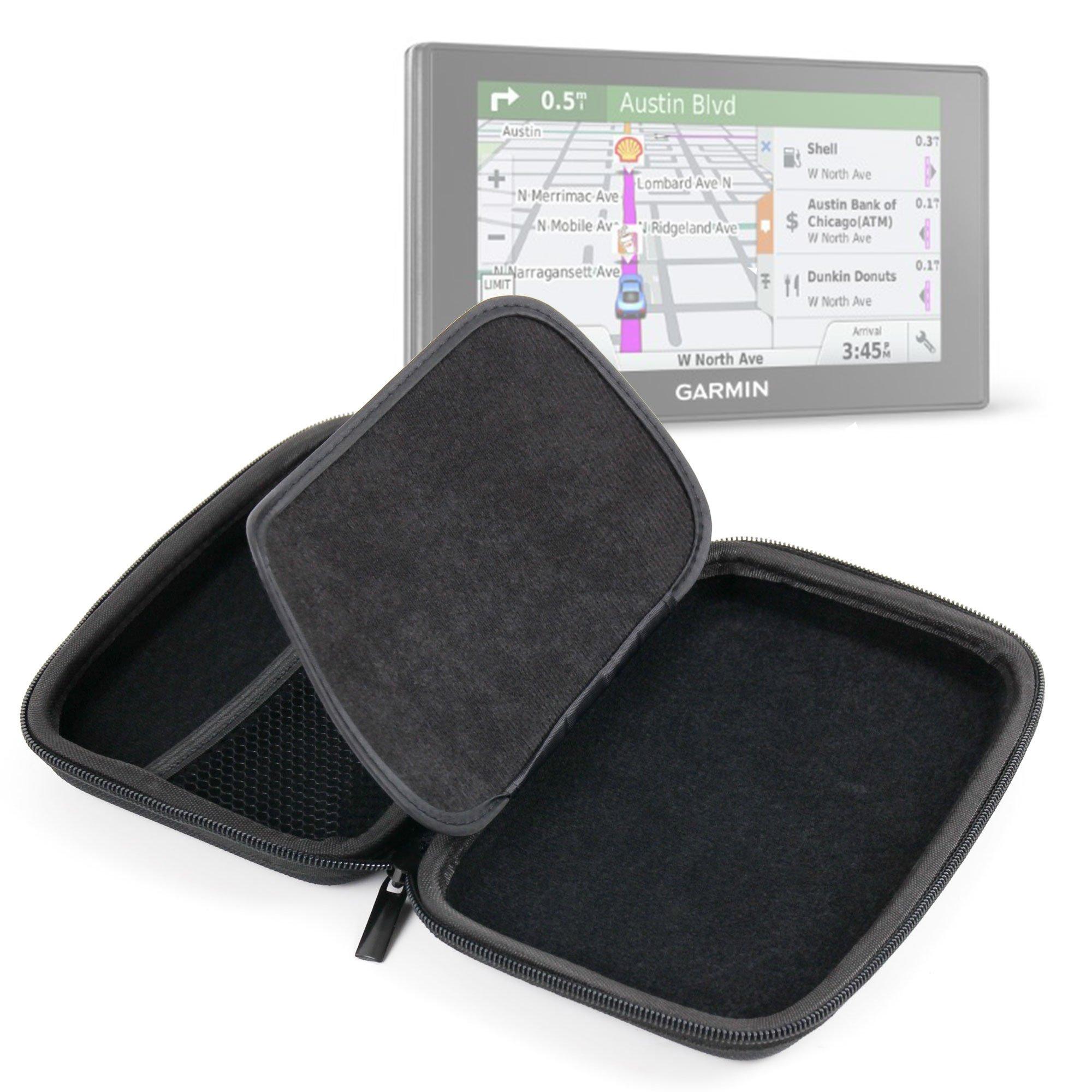Premium Quality 7-inch Hard Shell EVA Case in Black for the NEW Garmin DriveSmart 60LMT / 70LMT Satnavs - by DURAGADGET