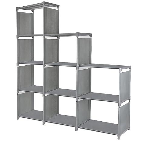9 Cube Storage Shelves SJHL DIY Modular Closet Organizer Unit And Bookshelf Cabinet For Clothes