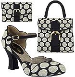 Ruby Shoo Women's Annabel Mary Jane Pumps & Matching Riva Handbag & Garda Purse