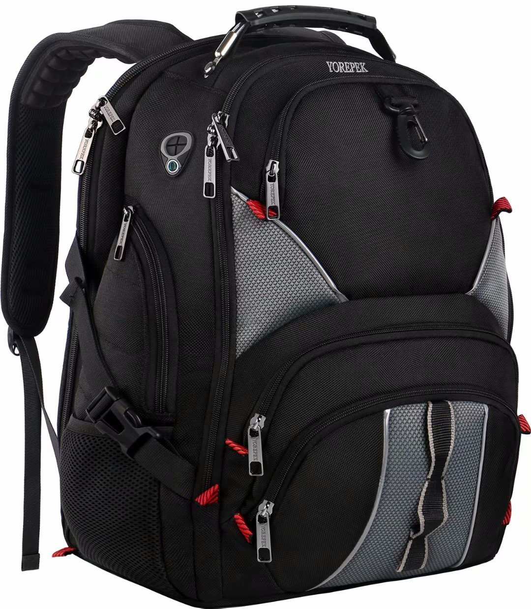 17 inch Laptop Backpack,Large Travel Backpack,TSA Friendly Durable Computer Bagpack with Luggage Sleeve for Men Women, Water Resistant Business College School Bag with USB Charger Port, Black by YOREPEK (Image #1)