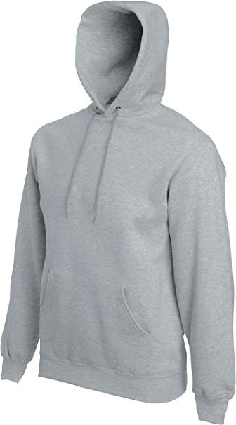 Fruit of The Loom Herren Hoodie Classic Hooded Sweat Grau