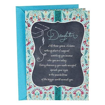 amazon com hallmark graduation greeting card for daughter