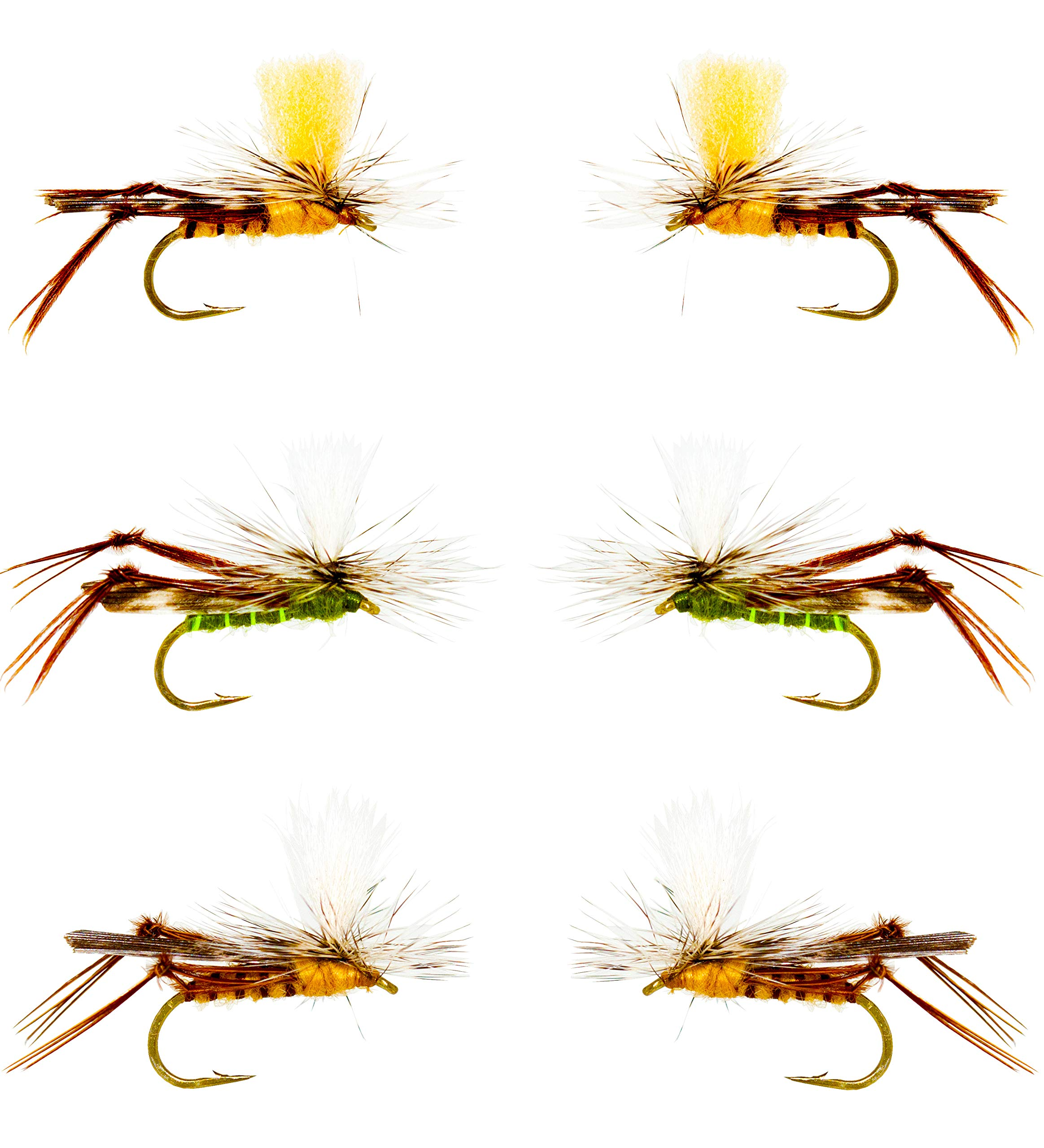 Outdoor Planet 12 Parachute Hopper Dry Flies for Trout Fly Fishing Flies Lure Assortment by Outdoor Planet
