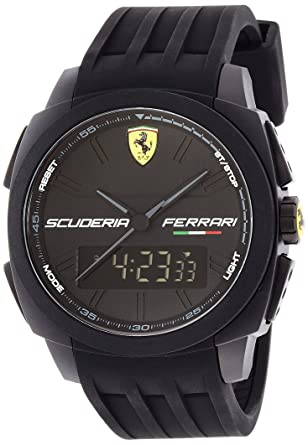Scuderia Ferrari 0830122 Aerodinamico Black Rubber Watch