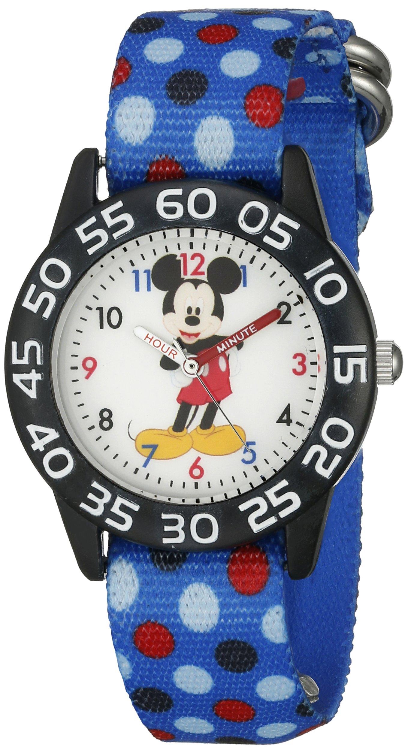 Disney Mickey Mouse Kids' W002366 Mickey Mouse Analog Display Analog Quartz Blue Watch