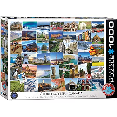 EuroGraphics Canada Globetrotter Puzzle (1000 Piece): Toys & Games