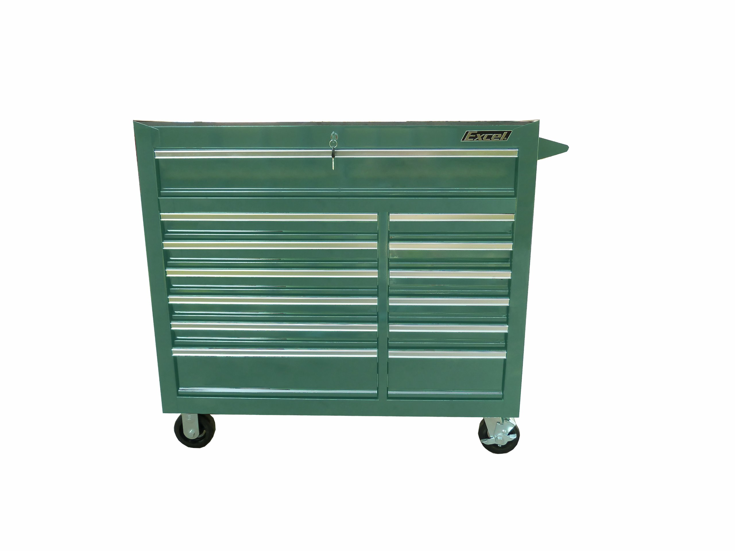 Excel TBR4013X-Teal 13-Drawer Heavy Duty Roller Cabinet, 42-Inch, Teal