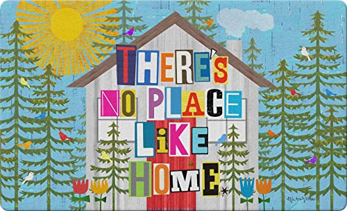 Toland Home Garden No Place Like Home 18 x 30 Inch Decorative Summer Floor Mat Colorful Sunshine Doormat