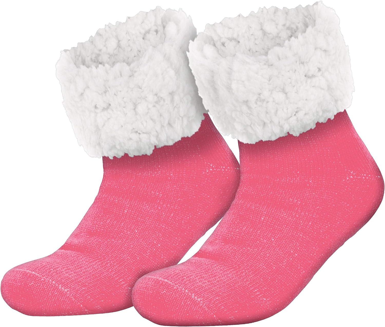 Compagno Morbidi calzettoni con suola in ABS antiscivolo Calzettoni invernali Calze a pantofola per donna uomo 1 paio misura unica