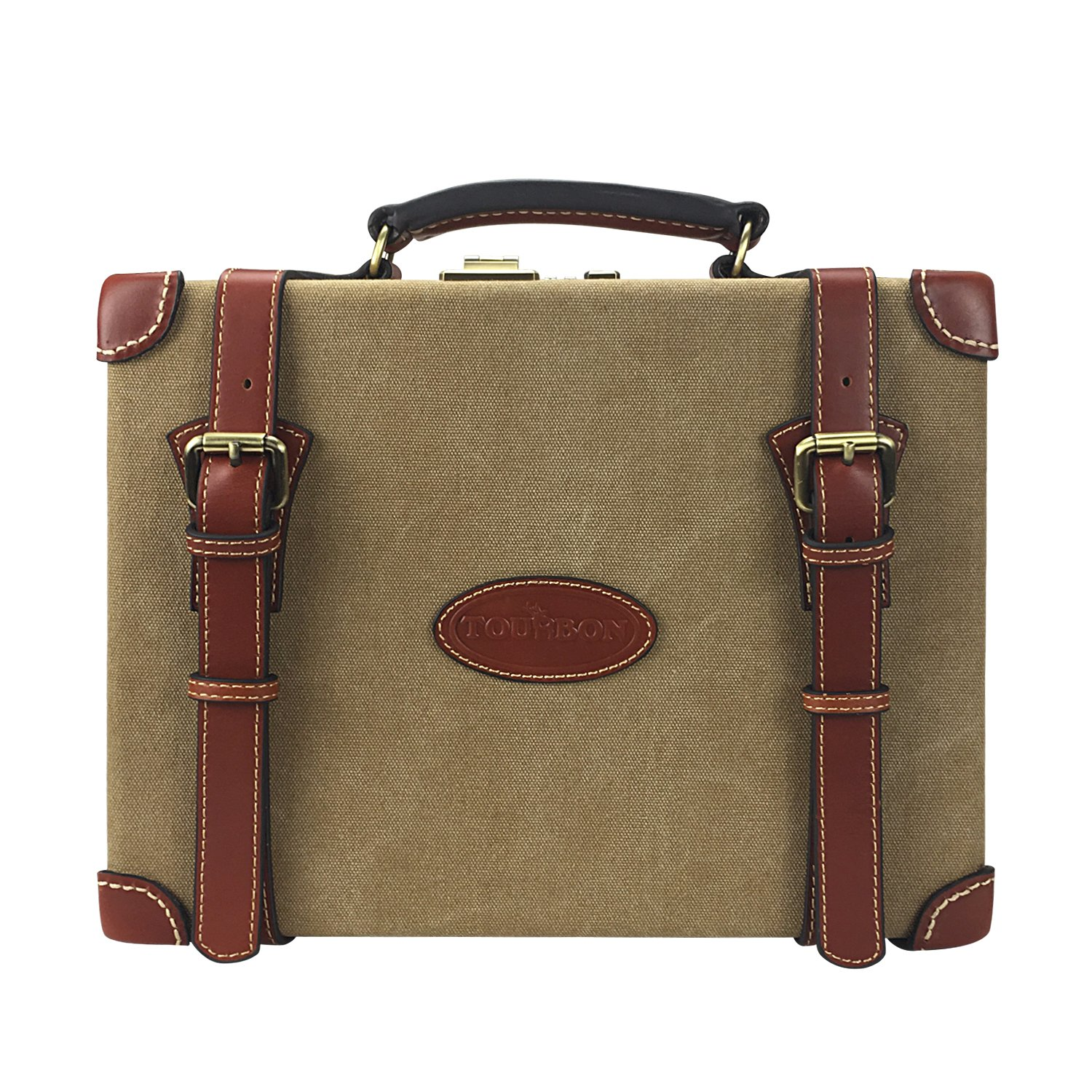 Tourbon Canvas and Leather Deluxe Shotshell Box Ammunition Carrier Ammo Storage Bullet Case - 200 Cartridges