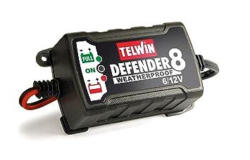 Telwin 7170057 Carga-baterias Inteligente Defender 8/6-12v Rojo y negro