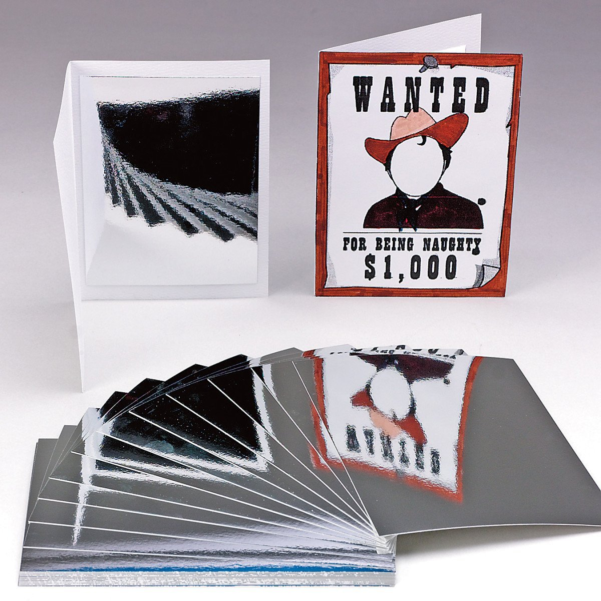 HYGLOSS PRODUCTS INC. MIRROR BOARD 5 X 7 25 SHEETS (Set of 6)