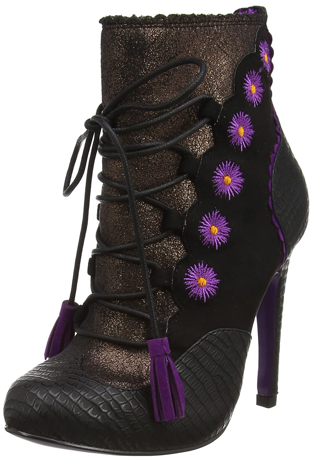 Poetic Licence by Irregular Choice Damen Folklore Stiefeletten, Schwarz