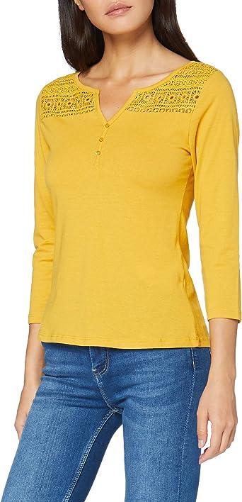 Springfield 7.Pv20.Panadera Lace-C/04 Camiseta, Amarillo ...