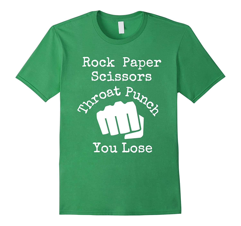 Rock Paper Scissors Throat Punch – Funny Martial Arts Shirt