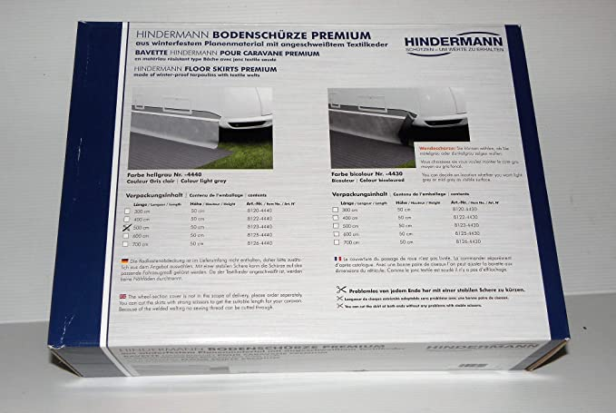 Hindermann Bodenschürze Premium Hellgrau 500 X 50 Cm Sport Freizeit