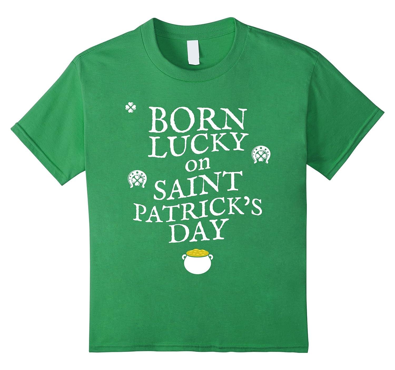 Lucky Patricks Birthday T shirt Kelly-Awarplus