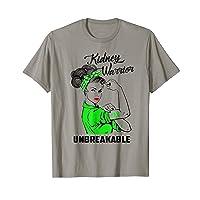 Kidney Warrior Unbreakable T-Shirt Kidney Awareness Gift
