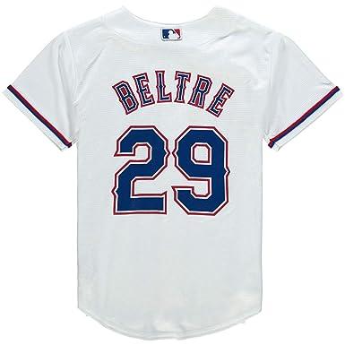 sports shoes 26947 63783 Amazon.com: Outerstuff Adrian Beltre Texas Rangers White #29 ...